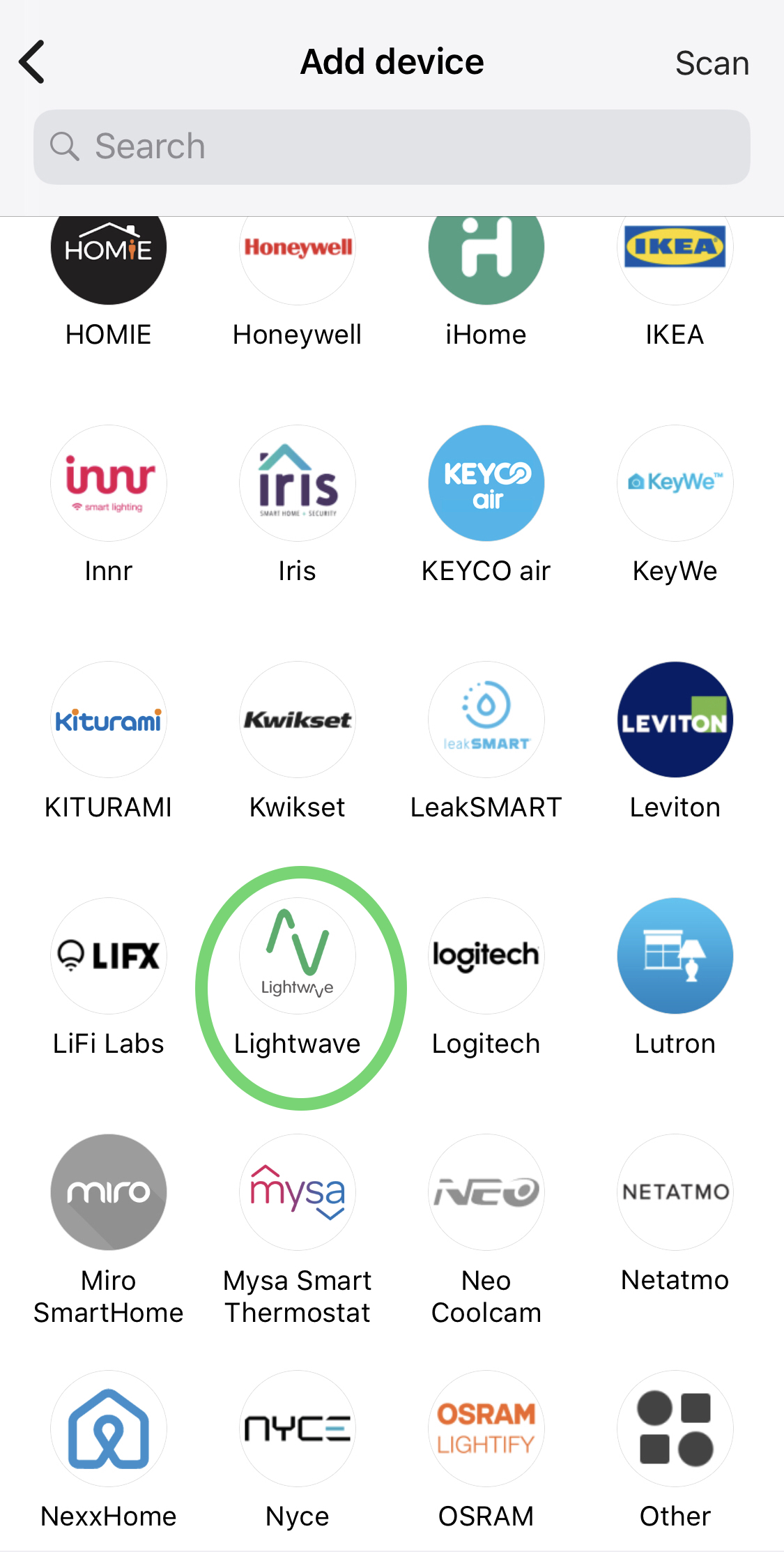 Integration with Samsung SmartThings – Lightwave